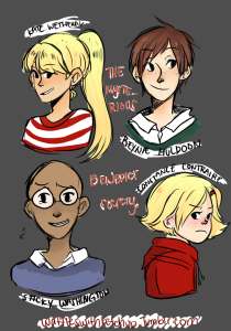 The characters- Kate Wetherall, Reynie Muldoon, Sticky Washington, Constance Contraire