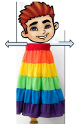 The Boy that danced with a rainbow dress